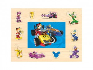 Puzzle drewniane 2w1 Disney Mickey and the Roadster Racers