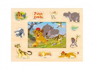 Puzzle drewniane 2w1 Disney The Lion Guard  Lwia Straż