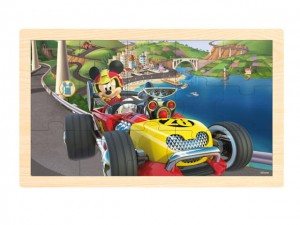 Puzzle drewniane Disney Mickey and the Roadster Racers