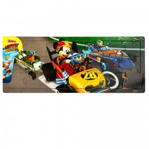 Duże puzzle drewniane Disney  Mickey and the Roadster Racers